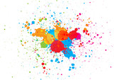 abstract splatter color background. illustration vector design - 238054436
