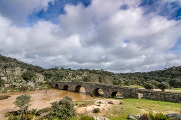 Mocho Bridge in the town of Ledesma in the province of Salamanca