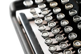 Close up of retro style typewriter in studio - 238062802