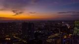 sunset sky bangalore cityscape aerial panorama tlmelapse 4k india
