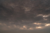 Cloudy sunset sky background - 238063247
