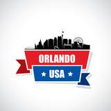 Orlando skyline - Florida - ribbon banner  - 238063850