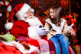 with santa claus