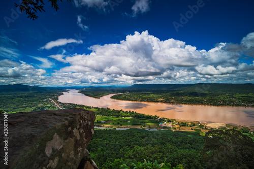 Foto Murales Mekong Fluss Landschaft