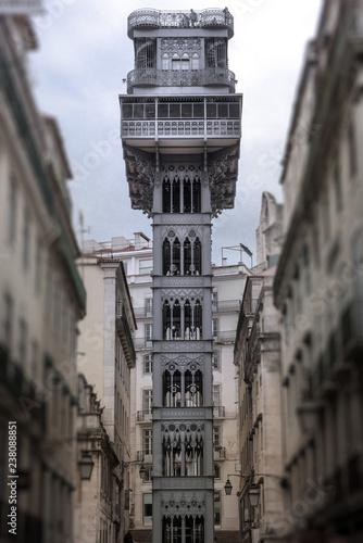 Eiffel elevator in Lisbon - 238088851