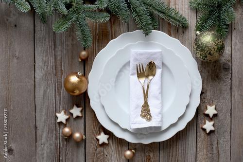 Leinwandbild Motiv Christmas table - Weihnachtstafel