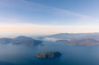 Mountain view overlooking ocean and islands off Vancouver, Canada