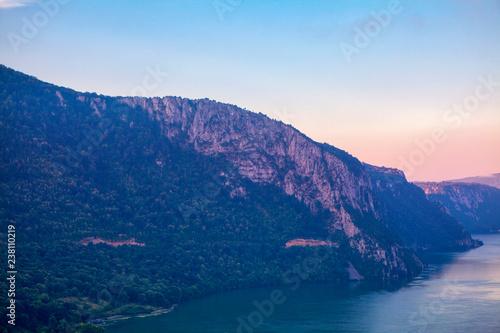 Scenery of Danube river coastline