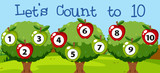 Math couting apple to ten - 238125494