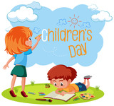 A children's day template