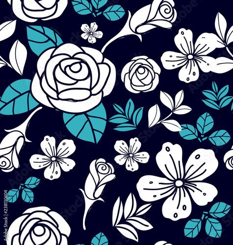 Floral seamless  pattern8 - 238130604