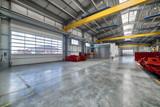 A modern factory. Large entrance gates - 238131443