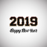 New Year Background Design with 2019 Numbers - 238144005