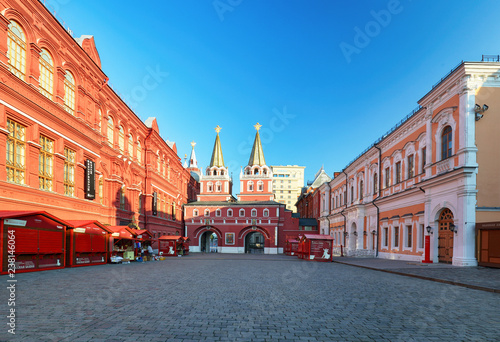 Russia, Moscow - Red square at sunrise, nobody