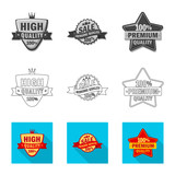 Isolated object of emblem and badge icon. Set of emblem and sticker stock symbol for web. - 238156800