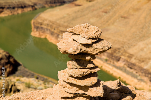 Foto Murales landscape and nature concept - tower of rocks in grand canyon and colorado river