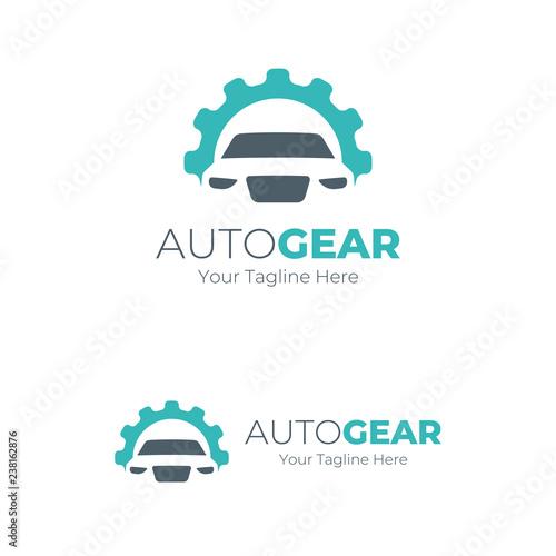 Auto Gear Logo Blue