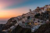 Colorful Sunset At Oia Village , Santorini