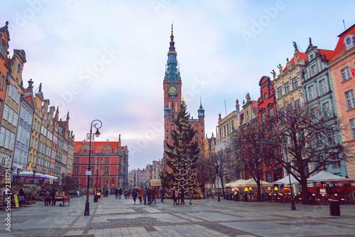obraz lub plakat Christmas decoration of the city of Gdansk