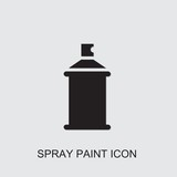 spray paint icon . Editable filled spray paint icon from construction. Trendy spray paint icon for web and mobile. - 238177290