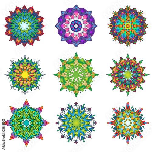Colorful Mandala Ornament Designs 11 - 238181205