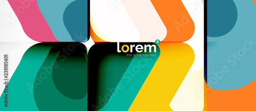 Abstract background multicolored geometric shapes modern design - 238185601