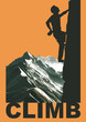 Climbing poster illustration