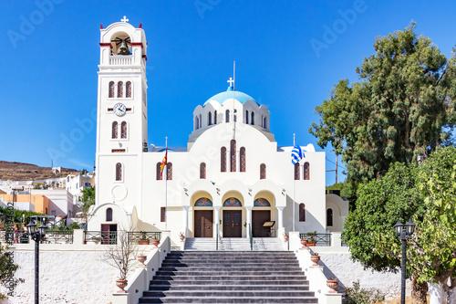 Church in the beautiful city Emporio, Santorini, Greece