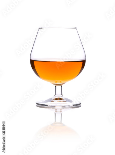 Brandy glass isolated on a white background
