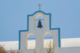 The crosses on the bell towers of some Greek churches - 238195857