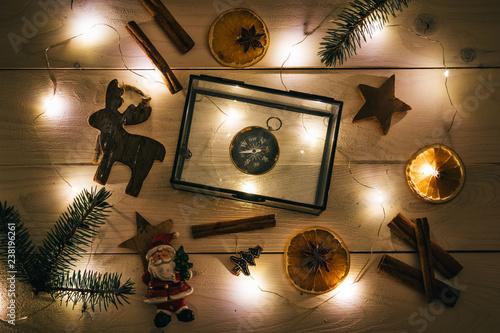 Świąteczne Ozdoby oświetlone lampkami