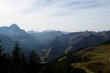 Allgäuer Alpen - Blick vom Walmendinger Horn