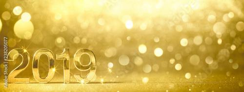 Nowy rok 2019 złotych liczb