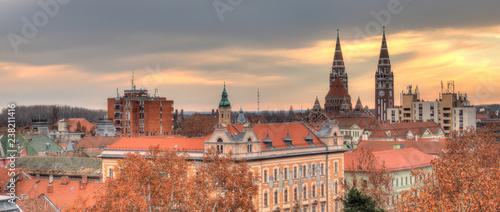 obraz PCV Szeged cityscape in autumn