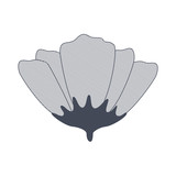 flower with sepal isolated icon