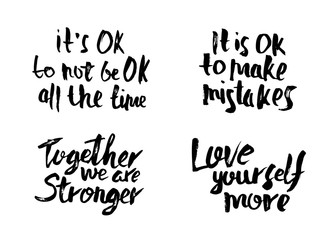 Vector quotes. Love yourself more.