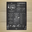 Chalk drawing restaurant menu design - 238238232