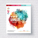 Abstract design on an annual report template - 238261496