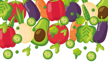 vegetables fresh healthy food background