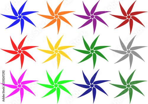 fleurs ,forme hélice - 238267292