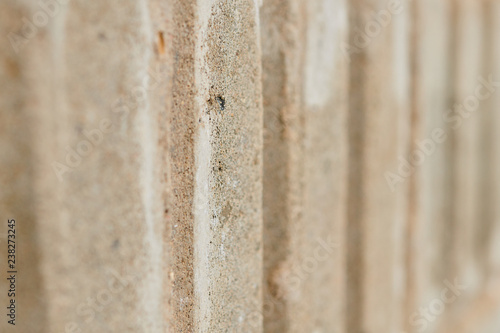 Striped texture of bricks or cement blocks, background, close-up - 238273245