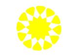 forme abstrait,jaune,isolé - 238274406