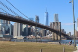 new york brooklyn bridge and skyline