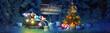 Leinwanddruck Bild - Schneemann - Weihnachtsmotiv