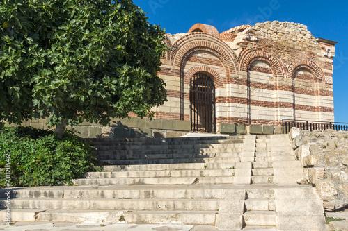 Ruins of Ancient Church of St. John Aliturgetos in the town of Nessebar, Burgas Region, Bulgaria
