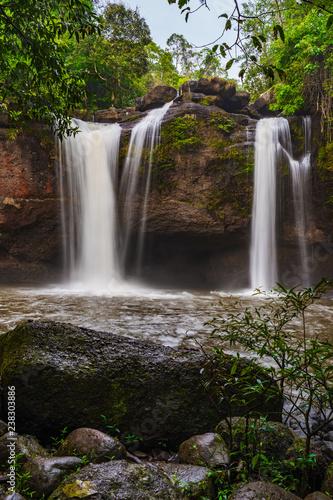 Haew Suwat Waterfall in Khao Yai Park, Thailand - 238303886