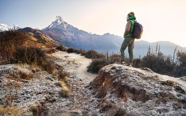 Trekking in Himalaya Mountains
