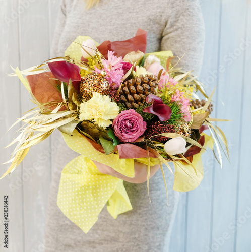 nice bouquet in the hands - 238316442