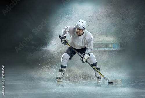 Leinwanddruck Bild Ice hockey Players in dynamic action in a professional