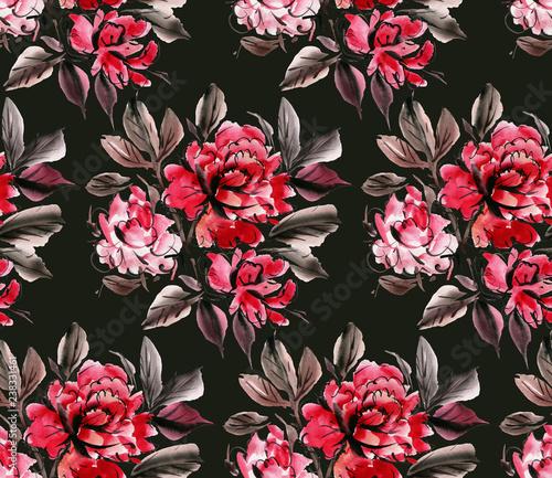 Watercolor flowers - 238331461